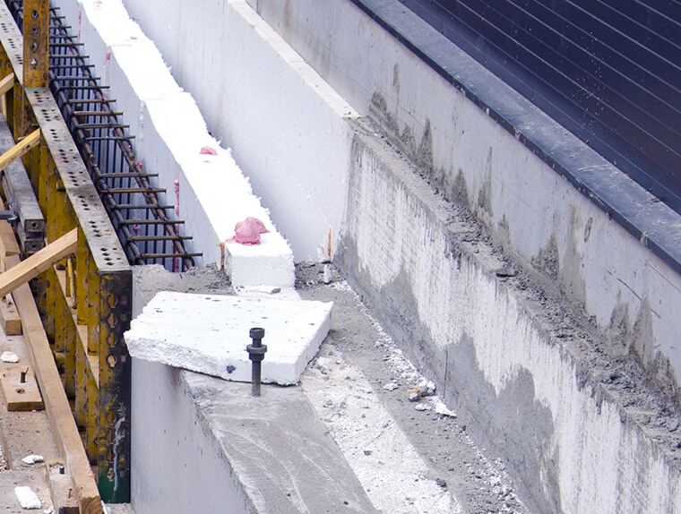 Poured Concrete Walls using Insulated Concrete Forms
